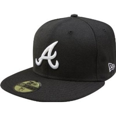 New Era Atlanta Braves 59FIFTY Fitted Cap - Black/White