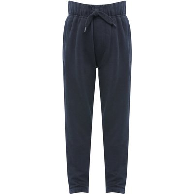 Boys plain cotton jogger casual trouser with drawstring waist Age 3 - 10  - Navy