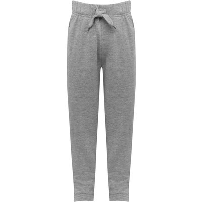 Boys plain cotton jogger casual trouser with drawstring waist Age 3 - 10  - Grey