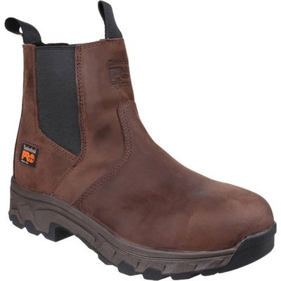 Timberland Pro® Timberland PRO® Workstead Water Resistant Pull on Dealer Safety Boot Brown Size 6.