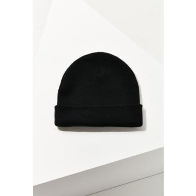 Double Knit Basic Beanie, BLACK