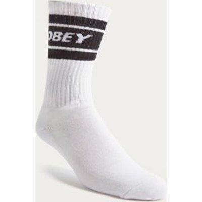 OBEY Cooper Black and White Tube Socks, White
