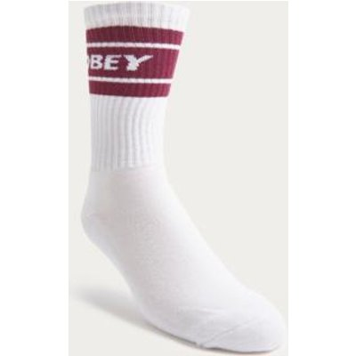 OBEY Cooper Raspberry and White Tube Socks, Pink
