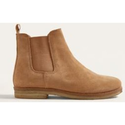 UO Double Crepe Suede Chelsea Boots, TAN