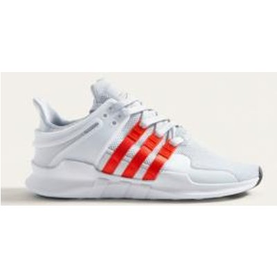 adidas EQT Support ADV Pink and White Trainers, WHITE
