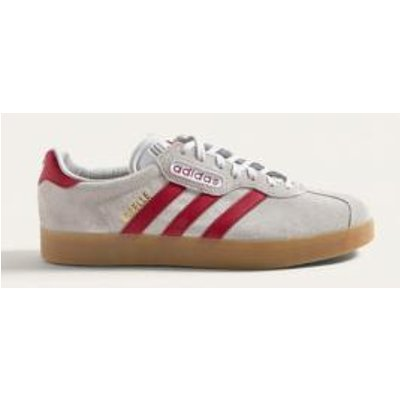 adidas Gazelle Super Grey and Red Trainers, GREY