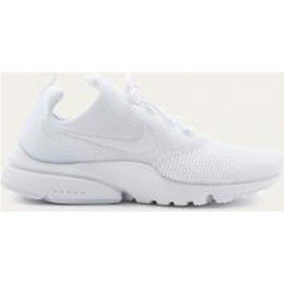 Nike Presto Flyknit White Trainers, WHITE