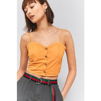 Urban Outfitters Corset Cami, ORANGE