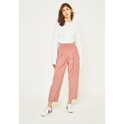BDG Pink Corduroy Cocoon Trousers, PINK