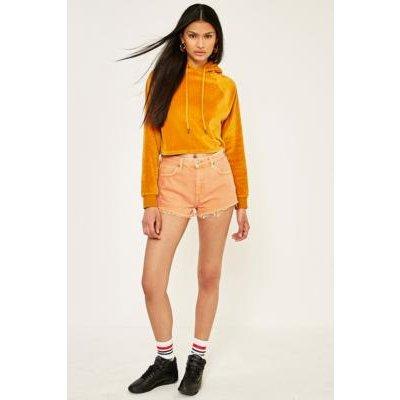 BDG Cheeky Denim Shorts, ORANGE