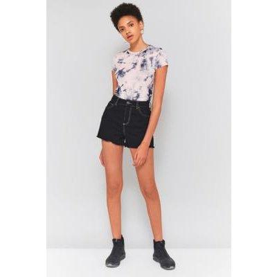 BDG Mom Raw Hem Denim Shorts, BLACK
