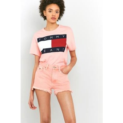 Tommy Jeans '90s High Waisted Denim Shorts, PINK