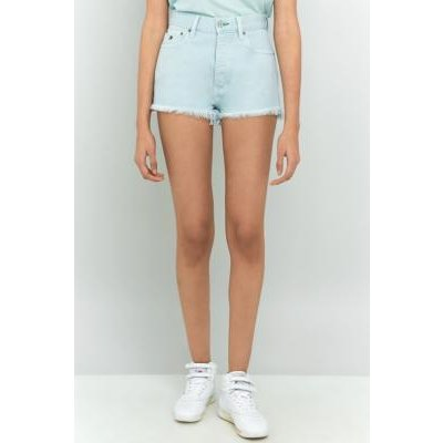 Tommy Jeans '90s Baby Blue Cut Off Denim Shorts, BLUE