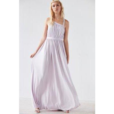 Kimchi Blue Coralina Cupro Asymmetrical Maxi Dress, LILAC