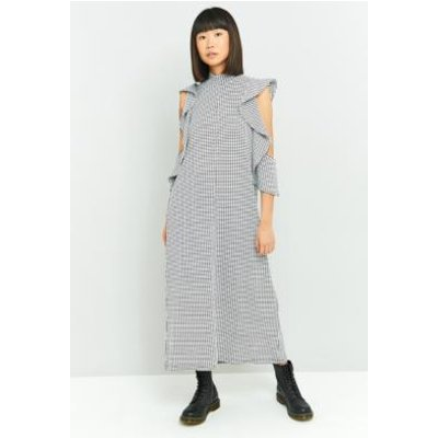 Rodebjer Girinia Grid Jersey Maxi Dress, BLACK MULTI