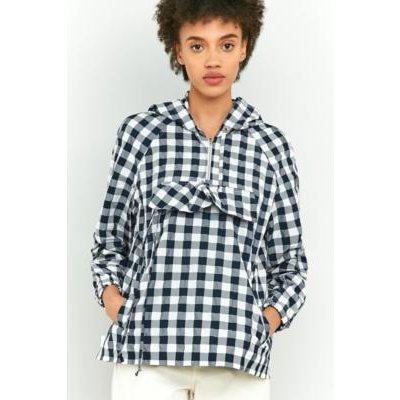 Peter Jensen Gingham Pocket Anorak, NAVY