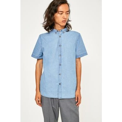 Loom Short-Sleeve Chambray Denim Shirt, BLUE