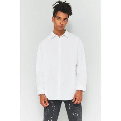 Shore Leave Drop Shoulder White Oxford Shirt, WHITE