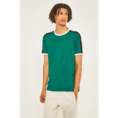 UO Green and Black Contrast Football T-Shirt, GREEN