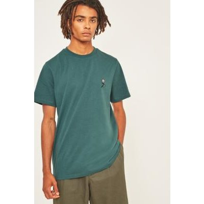 UO Forest Rose Embroidery T-shirt, D GREEN