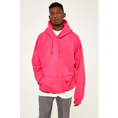 UO Bright Pink Oversized Hoodie, PINK