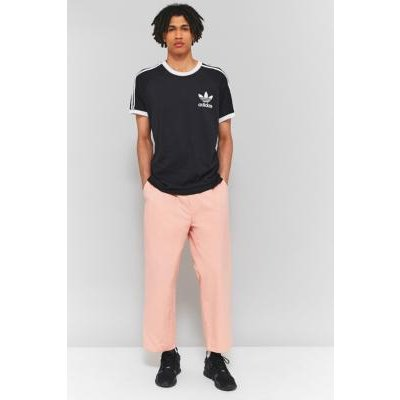 Loom Elliot Pleated Pink Cropped Trousers, PINK