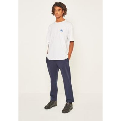 Loom Navy Tailored Jersey Trousers, NAVY