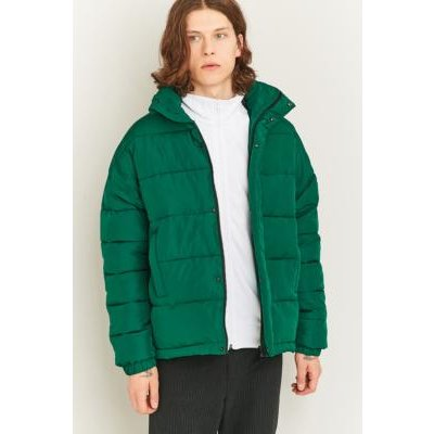 Shore Leave Green Zip Puffer Jacket, GREEN