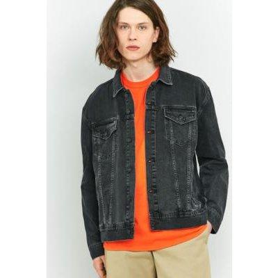 Loom Hooper Washed Black Denim Trucker Jacket, BLACK