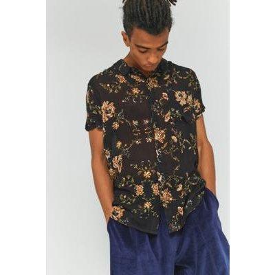 Rolla's Autumn Black Beach Boy Short-Sleeve Shirt, BLACK