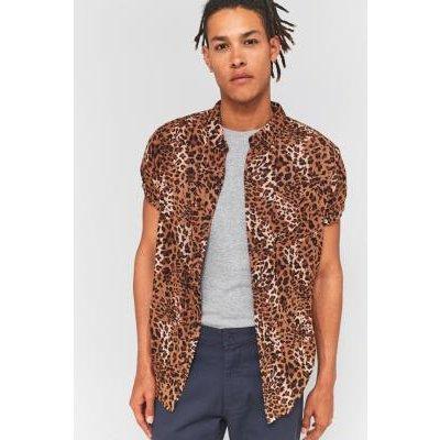 Rolla's Beach Boy Animal Print Short-Sleeve Shirt, BRONZE