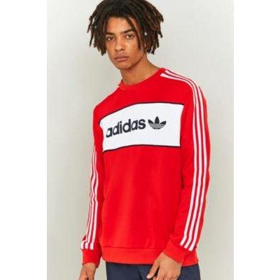 adidas Originals Core Red Block Sweatshirt, RED