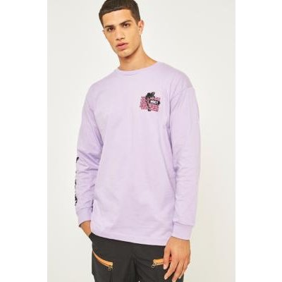 Obey People Attack Lavender Long-Sleeve T-shirt, LAVENDER