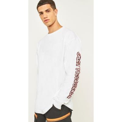 Obey Public Opinion White Long-Sleeve T-shirt, WHITE