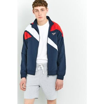 Reebok LF Vector Navy and Red Track Top, NAVY
