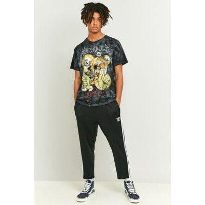 adidas Originals Superstar 3-Stripe Cropped Black Track Pants, BLACK