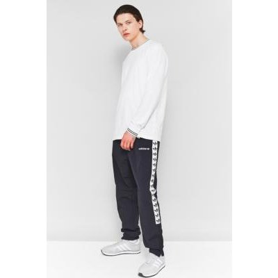 adidas TNT Black and White Taped Windbreaker Track Pants, BLACK