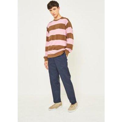 Dickies 873 Navy Slim Straight Work Trousers, DARK BLUE