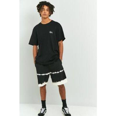 Stussy Black Spray Stripe Shorts, BLACK