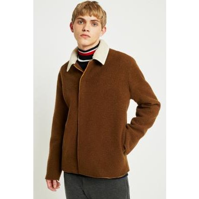 Soulland Meng Camel Wool Jacket, TAN