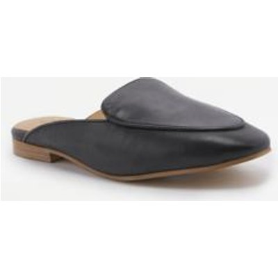 Driving Loafer Flat Mules, BLACK