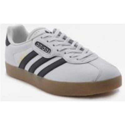 adidas Originals Super Vintage Gazelle White And Black Trainers, WHITE