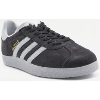 adidas Originals Gazelle Black Suede Trainers, BLACK