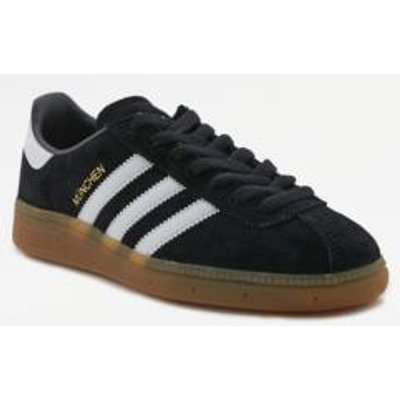 adidas Originals Munchen Black Gumsole Trainers, BLACK