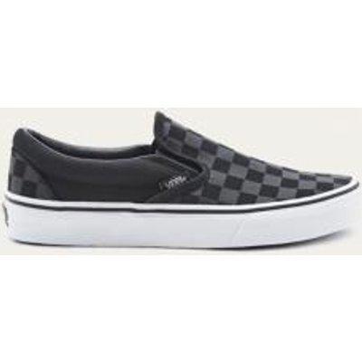 Vans Checked Slip-On Trainers, BLACK