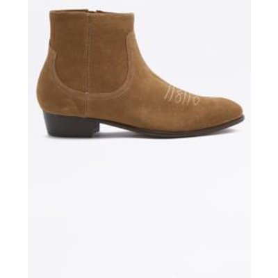 H by Hudson Winston Suede Sand Boots, TAN