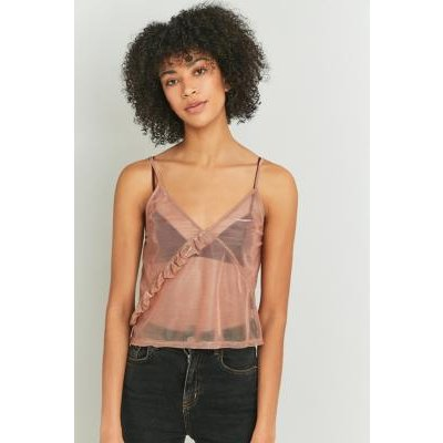 Sparkle & Fade Liquid Frill Tank Top, PINK