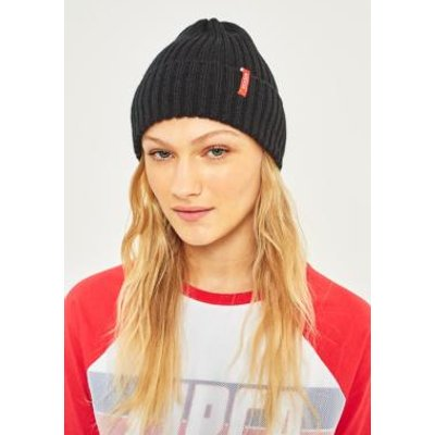 Reason Side Tab Beanie, BLACK