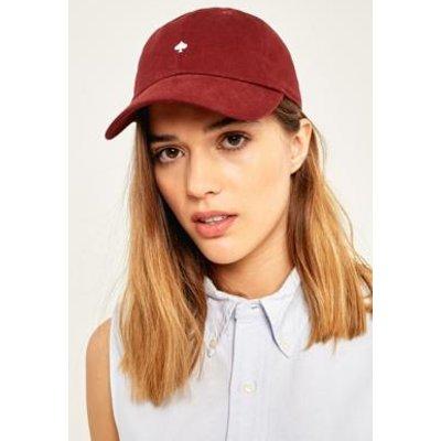 Embroidered Spade Baseball Hat, MAROON