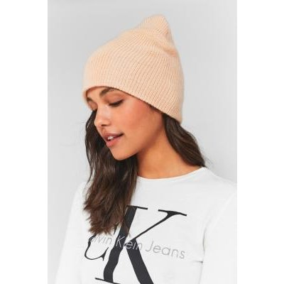 Urban Outfitters Slouchy Ribbed Beanie, PINK